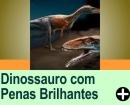 DINOSSAURO SEDUZIA PARCEIRA COM PENAS BRILHANTES, 130 MILHÕES DE ANOS ATRÁS