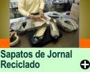 SAPATOS DE JORNAL RECICLADO