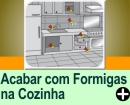 COMO ACABAR COM AS FORMIGAS NA COZINHA