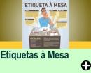 ETIQUETAS À MESA