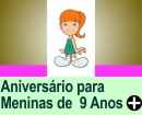 ANIVERÁRIO PARA MENINAS DE 9 ANOS