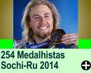 Medalhistas das Olimpíadas de Sóchi 2014