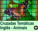 Cruzadas Temáticas de Animais em Inglês