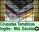 Cruzadas Temáticas de Material Escolar em Inglês