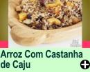 ARROZ COM CASTANHA DE CAJU E MANJERICÃO