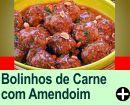 BOLINHOS DE CARNE COM AMENDOIM