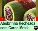 ABOBRINHA RECHEADA COM CARNE MOÍDA