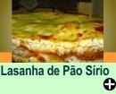 LASANHA DE PÃO SÍRIO