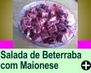 SALADA DE BETERRABA COM MAIONESE