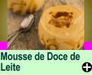 MOUSSE DE DOCE DE LEITE