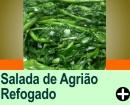SALADA DE AGRIÃO REFOGADO