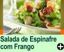 SALADA DE ESPINAFRE COM FRANGO, MAÇÃ E AMÊNDOAS TOSTADAS
