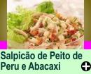 SALPICÃO DE PEITO DE PERU E ABACAXI