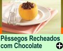 PÊSSEGOS RECHEADOS COM CHOCOLATE