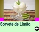 SORVETE DE LIMÃO