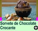 SORVETE DE CHOCOLATE CROCANTE