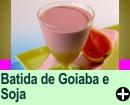 BATIDA DE GOIABA COM BEBIDA À BASE DE SOJA